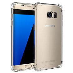 Samsung Galaxy S7 Edge G935F用極薄ソフトケース シリコンケース 耐衝撃 全面保護 クリア透明 T05 サムスン クリア