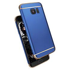 Samsung Galaxy S7 Edge G935F用ケース 高級感 手触り良い メタル兼プラスチック バンパー M02 サムスン ネイビー