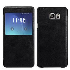 Samsung Galaxy S7 Edge G935F用手帳型 レザーケース スタンド U01 サムスン ブラック