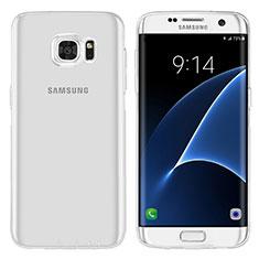 Samsung Galaxy S7 Edge G935F用極薄ソフトケース シリコンケース 耐衝撃 全面保護 クリア透明 T07 サムスン クリア