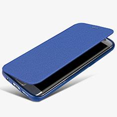 Samsung Galaxy S7 Edge G935F用手帳型 レザーケース スタンド L02 サムスン ネイビー