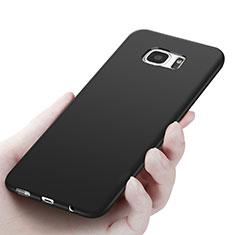 Samsung Galaxy S7 Edge G935F用極薄ソフトケース シリコンケース 耐衝撃 全面保護 R06 サムスン ブラック
