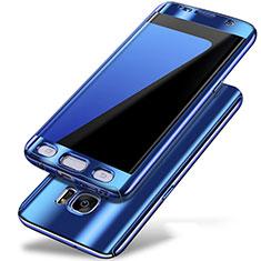 Samsung Galaxy S7 Edge G935F用ハードケース プラスチック 質感もマット 前面と背面 360度 フルカバー P01 サムスン ネイビー