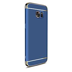 Samsung Galaxy S7 Edge G935F用ケース 高級感 手触り良い メタル兼プラスチック バンパー M05 サムスン ネイビー