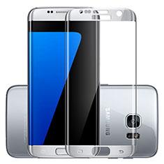 Samsung Galaxy S7 Edge G935F用強化ガラス フル液晶保護フィルム F03 サムスン シルバー