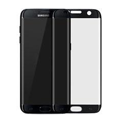 Samsung Galaxy S7 Edge G935F用強化ガラス フル液晶保護フィルム F04 サムスン ブラック
