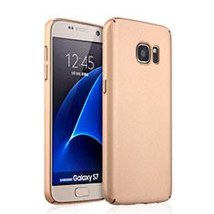 Samsung Galaxy S7 G930F G930FD用ハードケース プラスチック 質感もマット サムスン ゴールド