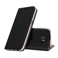 Samsung Galaxy S7 G930F G930FD用手帳型 レザーケース スタンド サムスン ブラック