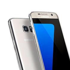 Samsung Galaxy S7 G930F G930FD用極薄ソフトケース シリコンケース 耐衝撃 全面保護 クリア透明 サムスン クリア