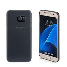 Samsung Galaxy S7 G930F G930FD用シリコンケース ソフトタッチラバー 質感もマット サムスン ブラック