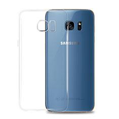 Samsung Galaxy S7 G930F G930FD用極薄ソフトケース シリコンケース 耐衝撃 全面保護 クリア透明 T02 サムスン クリア