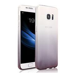 Samsung Galaxy S7 G930F G930FD用極薄ソフトケース グラデーション 勾配色 クリア透明 サムスン グレー