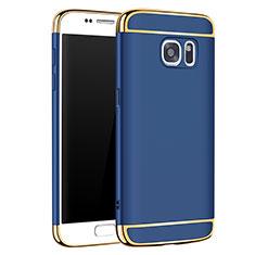 Samsung Galaxy S7 G930F G930FD用ケース 高級感 手触り良い メタル兼プラスチック バンパー M01 サムスン ネイビー