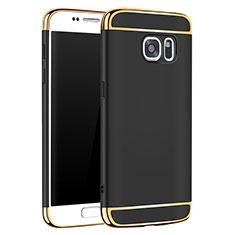 Samsung Galaxy S7 G930F G930FD用ケース 高級感 手触り良い メタル兼プラスチック バンパー M01 サムスン ブラック