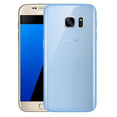Samsung Galaxy S7 G930F G930FD用極薄ソフトケース シリコンケース 耐衝撃 全面保護 クリア透明 H01 サムスン ネイビー