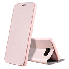 Samsung Galaxy S7 G930F G930FD用手帳型 レザーケース スタンド カバー S01 サムスン ローズゴールド