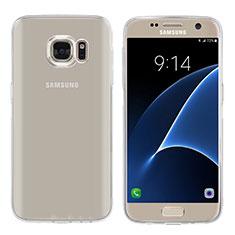 Samsung Galaxy S7 G930F G930FD用極薄ソフトケース シリコンケース 耐衝撃 全面保護 クリア透明 T04 サムスン クリア