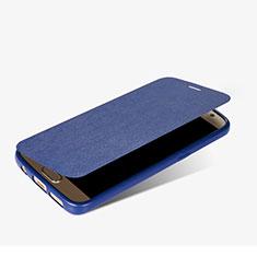 Samsung Galaxy S7 G930F G930FD用手帳型 レザーケース スタンド L01 サムスン ネイビー