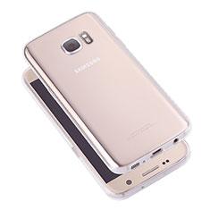 Samsung Galaxy S7 G930F G930FD用極薄ソフトケース シリコンケース 耐衝撃 全面保護 クリア透明 T05 サムスン クリア
