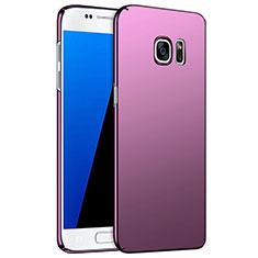 Samsung Galaxy S7 G930F G930FD用ハードケース プラスチック 質感もマット M02 サムスン パープル