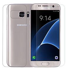 Samsung Galaxy S7 G930F G930FD用強化ガラス 液晶保護フィルム 背面保護フィルム同梱 サムスン クリア