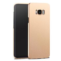 Samsung Galaxy S8用ハードケース プラスチック 質感もマット サムスン ゴールド