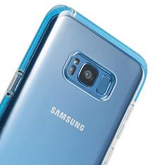 Samsung Galaxy S8用極薄ソフトケース シリコンケース 耐衝撃 全面保護 クリア透明 T06 サムスン クリア