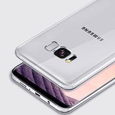 Samsung Galaxy S8用極薄ソフトケース シリコンケース 耐衝撃 全面保護 クリア透明 T02 サムスン クリア