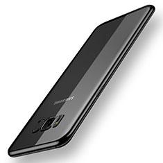 Samsung Galaxy S8用極薄ソフトケース シリコンケース 耐衝撃 全面保護 クリア透明 H05 サムスン ブラック