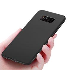 Samsung Galaxy S8用極薄ソフトケース シリコンケース 耐衝撃 全面保護 S06 サムスン ブラック