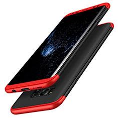 Samsung Galaxy S8用ハードケース プラスチック 質感もマット 前面と背面 360度 フルカバー M03 サムスン レッド・ブラック