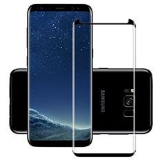 Samsung Galaxy S8用強化ガラス フル液晶保護フィルム F11 サムスン ブラック