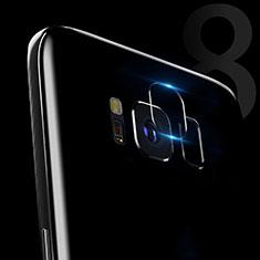 Samsung Galaxy S8用強化ガラス カメラプロテクター カメラレンズ 保護ガラスフイルム C02 サムスン クリア