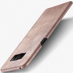 Samsung Galaxy S8 Plus用ケース 高級感 手触り良いレザー柄 サムスン ゴールド