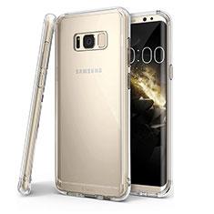 Samsung Galaxy S8 Plus用極薄ソフトケース シリコンケース 耐衝撃 全面保護 クリア透明 T04 サムスン クリア