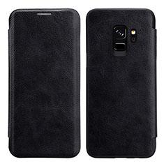 Samsung Galaxy S9用手帳型 レザーケース スタンド L01 サムスン ブラック