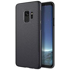 Samsung Galaxy S9用ハードケース プラスチック メッシュ デザイン サムスン ブラック