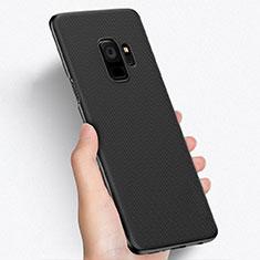 Samsung Galaxy S9用ハードケース プラスチック メッシュ デザイン W01 サムスン ブラック