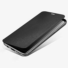 Samsung Galaxy S9用手帳型 レザーケース スタンド L02 サムスン ブラック