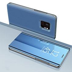 Samsung Galaxy S9用手帳型 レザーケース スタンド 鏡面 カバー サムスン ネイビー