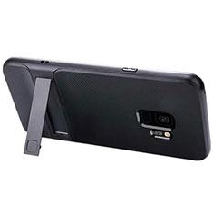 Samsung Galaxy S9用ハイブリットバンパーケース スタンド プラスチック 兼シリコーン カバー A02 サムスン ブラック