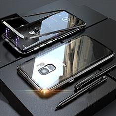 Samsung Galaxy S9用ケース 高級感 手触り良い アルミメタル 製の金属製 360度 フルカバーバンパー 鏡面 カバー M05 サムスン ブラック