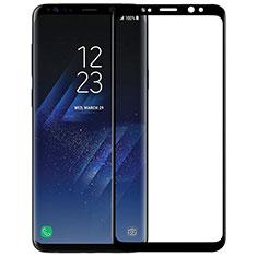 Samsung Galaxy S9用強化ガラス フル液晶保護フィルム F07 サムスン ブラック