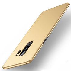 Samsung Galaxy S9 Plus用ハードケース プラスチック 質感もマット M01 サムスン ゴールド