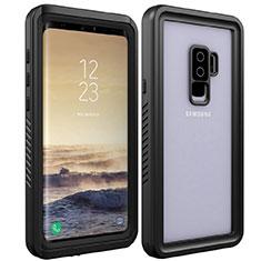 Samsung Galaxy S9 Plus用完全防水ケース ハイブリットバンパーカバー 高級感 手触り良い 360度 サムスン ブラック