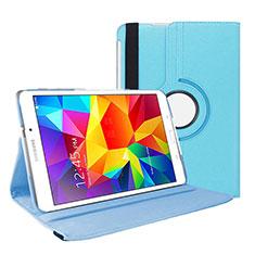 Samsung Galaxy Tab 4 7.0 SM-T230 T231 T235用手帳型 レザーケース スタンド サムスン ブルー