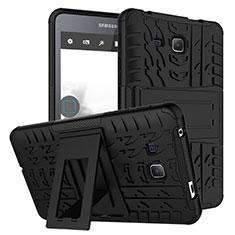 Samsung Galaxy Tab A6 7.0 SM-T280 SM-T285用ハイブリットバンパーケース スタンド プラスチック 兼シリコーン サムスン ブラック