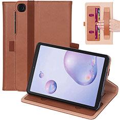 Samsung Galaxy Tab A7 4G 10.4 SM-T505用手帳型 レザーケース スタンド カバー L03 サムスン ブラウン