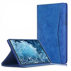 Samsung Galaxy Tab A7 4G 10.4 SM-T505用手帳型 レザーケース スタンド カバー L04 サムスン ネイビー