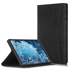 Samsung Galaxy Tab A7 4G 10.4 SM-T505用手帳型 レザーケース スタンド カバー L04 サムスン ブラック